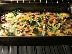 Kelly Craves...: Spinach & Sausage Egg Bake