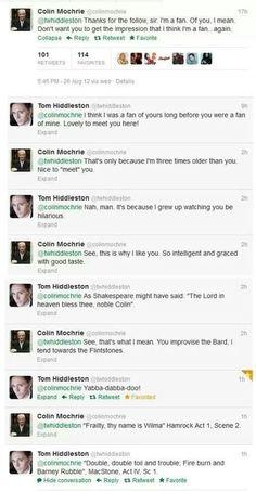 Tom fangirling over Colin Mochrie