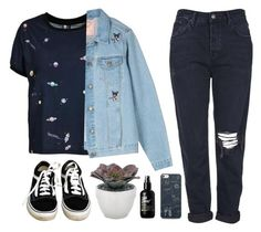 """""""Eva"""" by soym ❤ liked on Polyvore featuring Vans, Topshop and Torre & Tagus"""