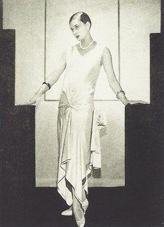 Robe par Madeleine Vionnet en crêpe de satin blanc, 1928