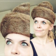 [ #Cosplaysacrifice ] I needed #fur for my #scabbard - I found this hat of my grandma handmade for her - it's history obviously and something of her - but that cut  - I double checked with my mom - it's finally getting used again - in my #cosplay  #cosplaywip #lagertha #vikings