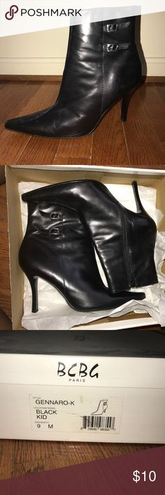 BCBG Paris heeled boots Worn once great condition BCBG Shoes Heeled Boots