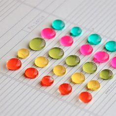 Learn to made enamel dots with a glue gun a paint! Super easy and cheap.