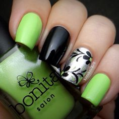 summer nail arts that you will try lime green nails, green nail art,. Frensh Nails, Get Nails, Fancy Nails, Acrylic Nails, Nails 2016, Toenails, Marble Nails, Fabulous Nails, Gorgeous Nails