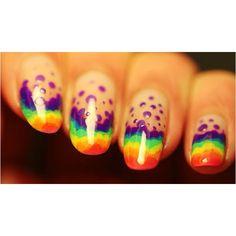 Rainbow Nails!!! <3