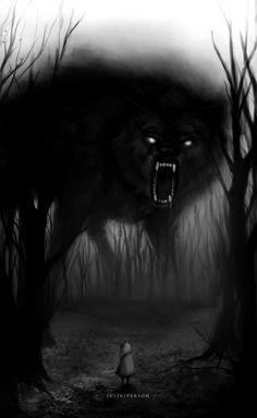 The wolf in the shadows Dark Fantasy Art, Dark Art, Shadow Wolf, Demon Wolf, Wolf Love, Bad Wolf, Wolf Spirit, Arte Horror, Wolf Tattoos