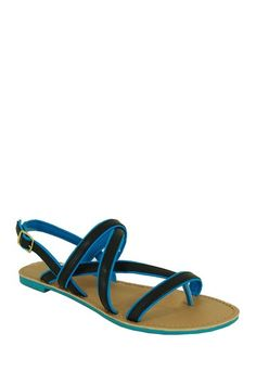 Qupid Athena Two-Tone Sandal