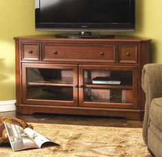 Family Room - Media Storage - Corner Media Console