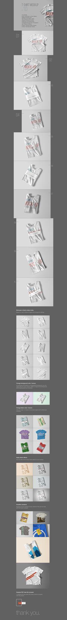Free PSD T-Shirt Mockup Template (96 MB) | themeraid.com | #free #mockup…