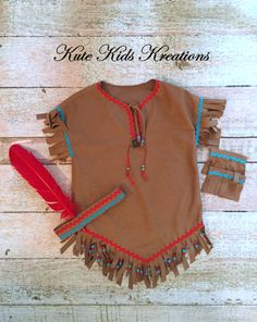 Girl's Native American Inspired Indian by kutekidskreations Indian Costume Kids, Indian Costumes, Diy Dress, Fancy Dress, Dress Up, Halloween Outfits, Halloween Costumes, Pocahontas Costume, Cut Up Shirts