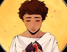 """""""patroclus, the love of my life  a small portion of a bookmark im planning to sell at oz comiccon this july!"""""""