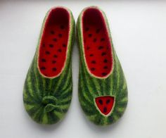 Hey, I found this really awesome Etsy listing at https://www.etsy.com/listing/186632487/who-ate-piece-delicious-felted-slippers: