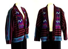 80s Jacket Guatemalan Vintage Hand Woven by DeannesVintage on Etsy