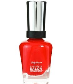 Sally Hansen Complete Salon Manicure All Fired Up Mercan Rengi Oje