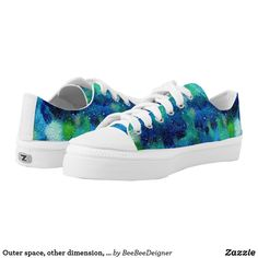 Shop Outer space, other dimension, same stars. Low-Top sneakers created by BeeBeeDeigner. Lost Stars, Watercolor Galaxy, Green Pattern, Kids Sneakers, Outer Space, Sneakers Fashion, Blue Green, Athletic Shoes, Baby Shoes