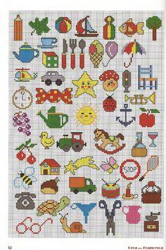 200 Cross Stitch – Page 20 Tiny Cross Stitch, Cross Stitch For Kids, Cross Stitch Bookmarks, Cross Stitch Borders, Cross Stitch Animals, Cross Stitch Designs, Cross Stitching, Cross Stitch Embroidery, Cross Stitch Patterns