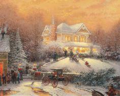 Thomas Kinkade (1958-2012) — Victorian Christmas, 1992 (3000×2403)