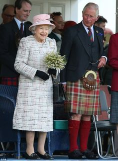 Sept 2017 The Queen was joined by Prince Charles at the Scottish village's historic ev...
