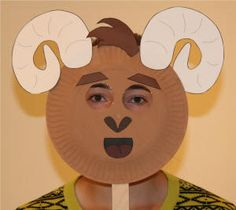 Ram Paper Plate Craft or Mask