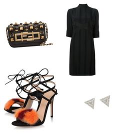"""""""Fendi"""" by williamsnl ❤ liked on Polyvore featuring Gianvito Rossi, Fendi and Lizzie Mandler"""