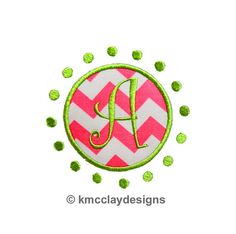 Circle Dot Frame. Machine Embroidery Applique Design. Instant Download. 4x4 and 5x7 from kmcclayapplique