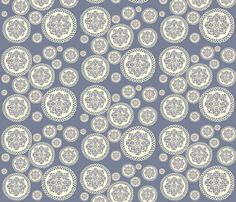 Blue Doilies fabric by heidikenney on Spoonflower - custom fabric