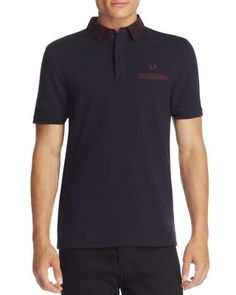 FRED PERRY Oxford Trim Slim Fit Polo Shirt. #fredperry #cloth #shirt