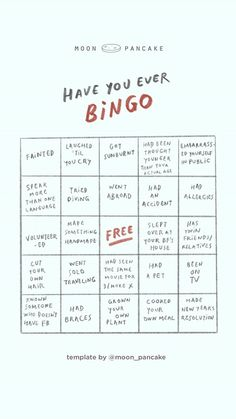 Have you ever Bingo Snapchat Story Questions, Snapchat Question Game, Instagram Story Questions, Fun Questions To Ask, Snapchat Stories, Instagram Story Ideas, Instagram Games, This Or That Questions, Have You Ever Questions