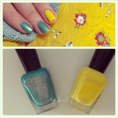 Nail Look featuring Zoya Nail Polish in Zuza and Zoya Pippa shared via Instagram!