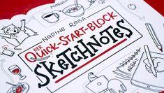 Quick-Start-Block Sketchnotes – Einfach Sketchnotes lernen Visual Thinking, Workshop, Sketch Notes, Everything Is Possible, Bullet Journal, Sketchbooks, Design, Dibujo, Visual Note Taking