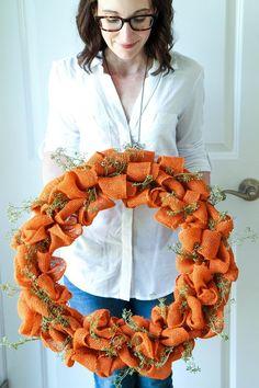 Handmade Autumn Burlap Wreath Tutorial from MomAdvice.com