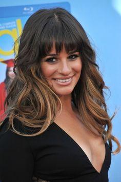 Lea Michele hair, bangs <3