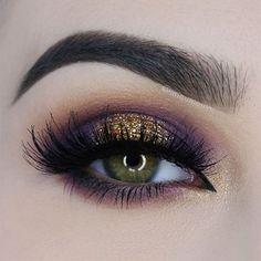 98 Best Gold And Purple Eyeshadow