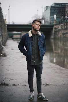 Kevin Elezaj - Nike Sneakers, Asos Jeans, Urban Outfitters Shirt, Levi's® Jacket - Vienna