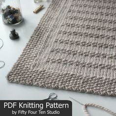 Blanket KNITTING PATTERN / Stones in the por FiftyFourTenStudio