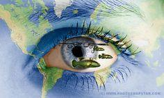 30 Creative and Stunning Human Photo Manipulations Fantasy Photography, Photography Editing, Amazing Photography, Photo Manipulation Tutorial, Big Blue Eyes, Altered Images, Photoshop Tutorial, Adobe Photoshop, Illustrator Tutorials