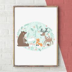 Plakat dla dzieci - Leśne zwierzaki