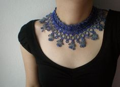 """Also from Turkey, """"irregular expressions"""" started making beautiful crochet and knit jewelry and other items after learning freeform style three years"""