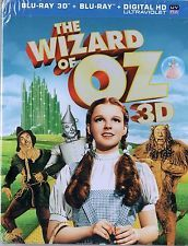 The Wizard of Oz (Blu-ray 3D + Blu-Ray , 2013, 2-Disc Set)  BRAND NEW