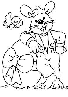 Desenhos de Coelhos para Artesanato de Páscoa.