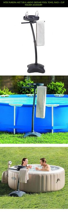 Intex PureSpa Hot Tub & Above Ground Pool Towel Rack + Cup Holder Accessory  #accessories #plans #products #racing #tubs #gadgets #kit #tech #fpv #technology #shopping #drone #camera #hot #parts