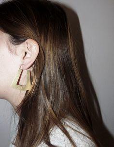 Bold Earrings, Statement Earrings, Hoop Earring