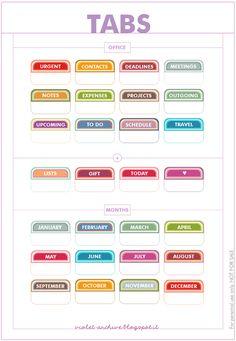 violet-archive: Free Printables - Tabs