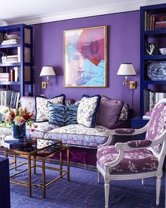 Layers of 💜💜💜 makes my happy! If I had a room like this, I would maybe weave this hue throughout the home, but keep the rest more neutral... You!!?? Repost From: @_wrdf Project By: @alexsviewpoint #thevibrantinterior #andreaschumacherinteriordesigner #denverinteriordesigner #santabarbarainteriordesigner #palmbeachinteriordesigner Home Interior, Bathroom Interior, Luxury Interior, Modern Interior, American Interior, Retail Interior, Modern Luxury, Purple Rooms, Home Decor Ideas