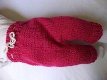 Babyhose 62/68 Schurwolle Pumphose Baby gestrickt