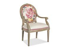 1567 Blair Chair in Suzette Cameo, Angelo Creme & Sonoma Peony aka Pantone Cashmere Rose