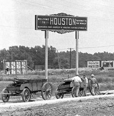 Old Photos of Downtown Houston | THIS SIGN USED TO SIT AT THE INTERSECTION OF BELLAIRE BLVD AND MAIN