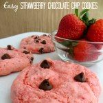Easy Strawberry Chocolate Chip Cookies Simplistically Living