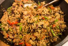 Spicy Thai Basil Fried Rice — I Heart Food - Dinner - Rice Recipes Thai Chicken Fried Rice, Basil Fried Rice, Curry Fried Rice, Vegetable Fried Rice, Spicy Fried Rice Recipe, Thai Rice, Thai Basil Chicken, Vegetable Dish, Thai Basil Recipes