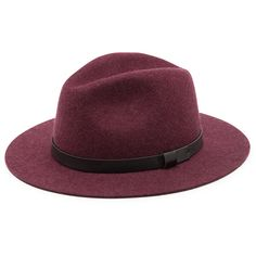 Sole Society Wide Brim Fedora With Band ($50) ❤ liked on Polyvore featuring accessories, hats, heathered wine, wide brim fedora, sole society, wide brim fedora hat, wide brim hat and band hats